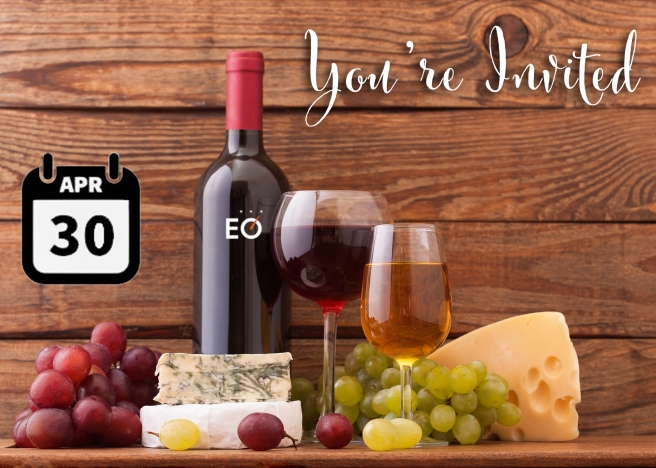 Front of Wine and Cheese Event Postcard